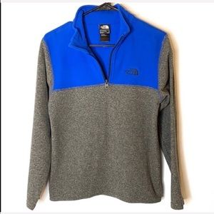 The North Face Boy's Gray and Blue Pullover